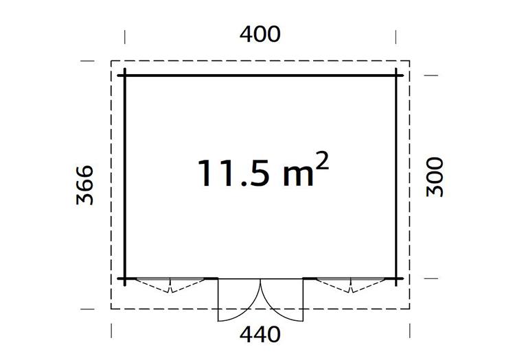 Capri 4.0m x 3.0m