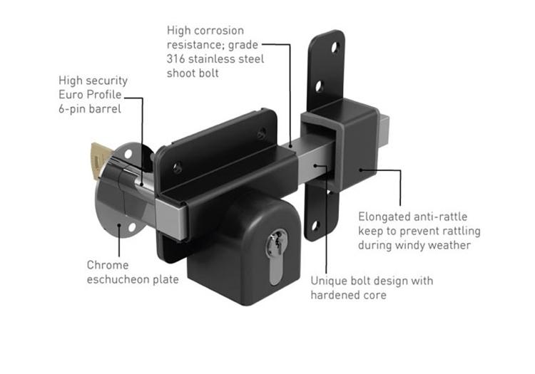 Gate Lock And Key Set