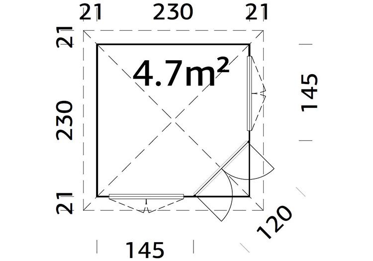 Marbella 2.3m x 2.3m