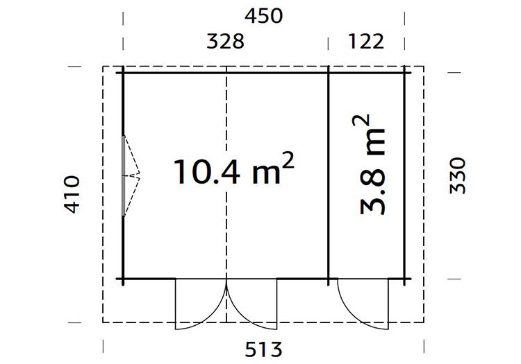 Salzberg 4.5m x 3.3m