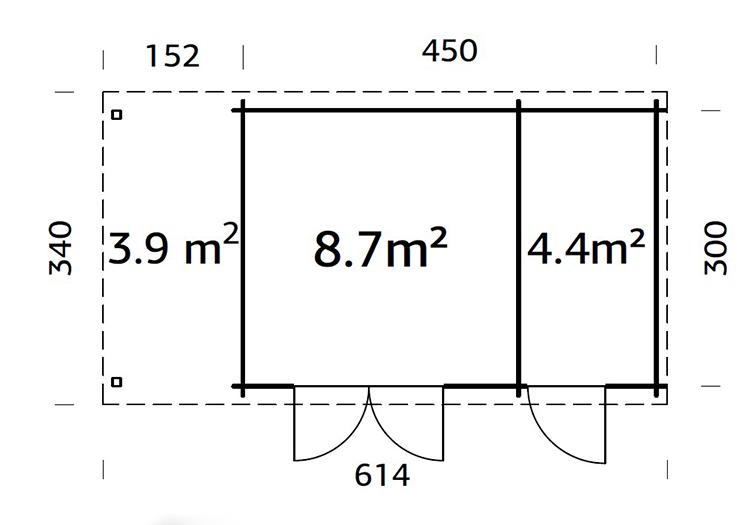 Wengen 6.0m x 3.0m