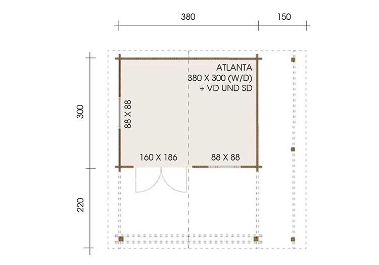 Atlanta 3.8m x 3.0m