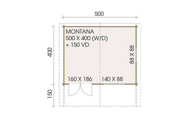 Montana 5.0m x 4.0m